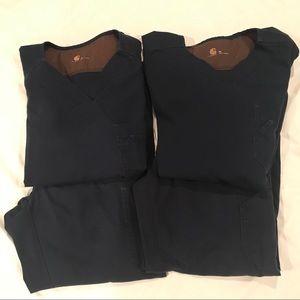 2 Sets of Blue Carhartt Scrubs - Size M